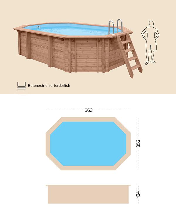 Holzpool technische Zeichnung abatec