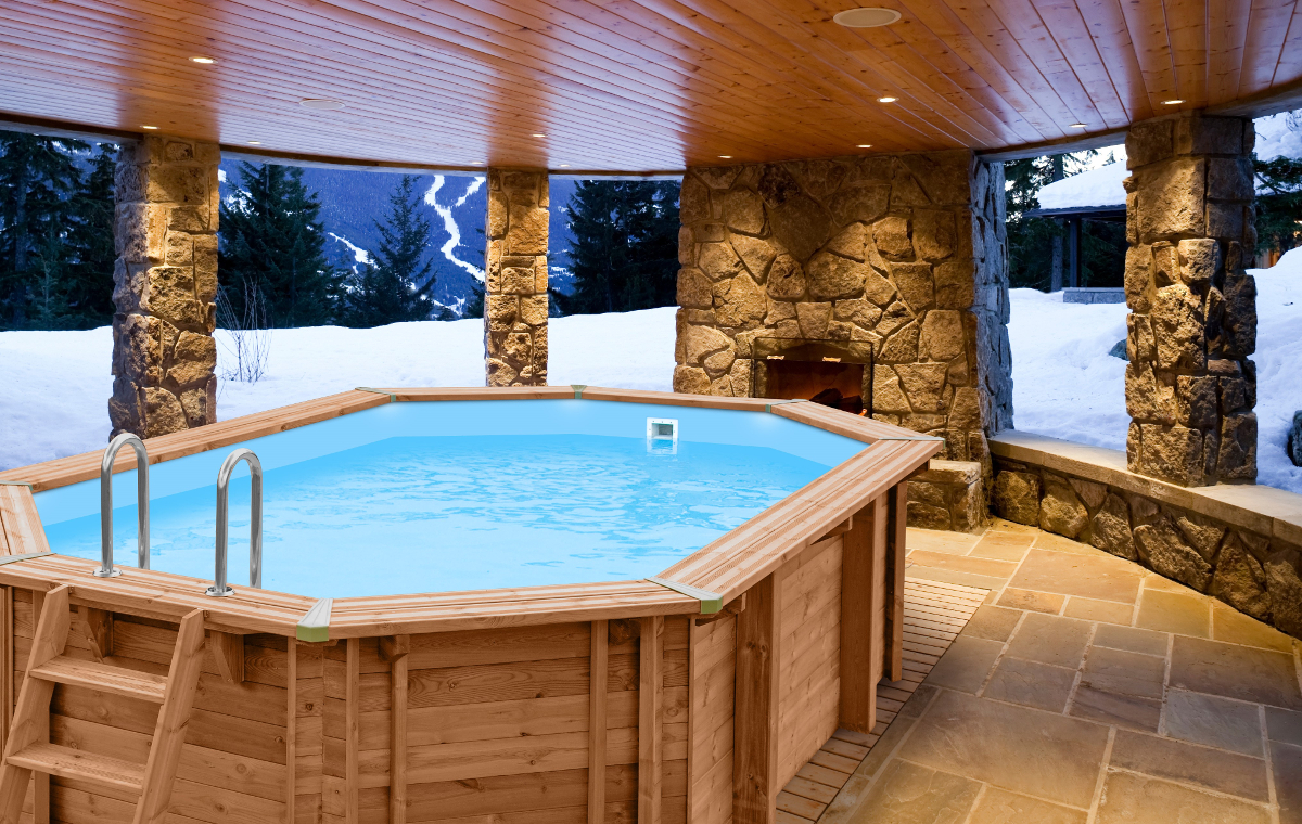 above ground wooden pool abatec blue lagoon