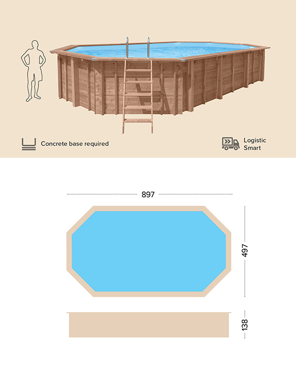 technical drawing abatec wooden pools Free Spirit
