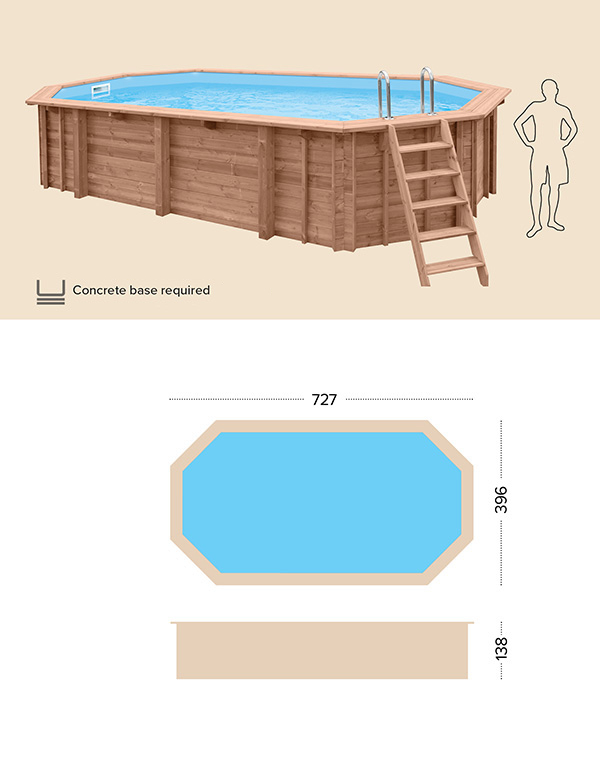 technical drawing above ground pool abatec