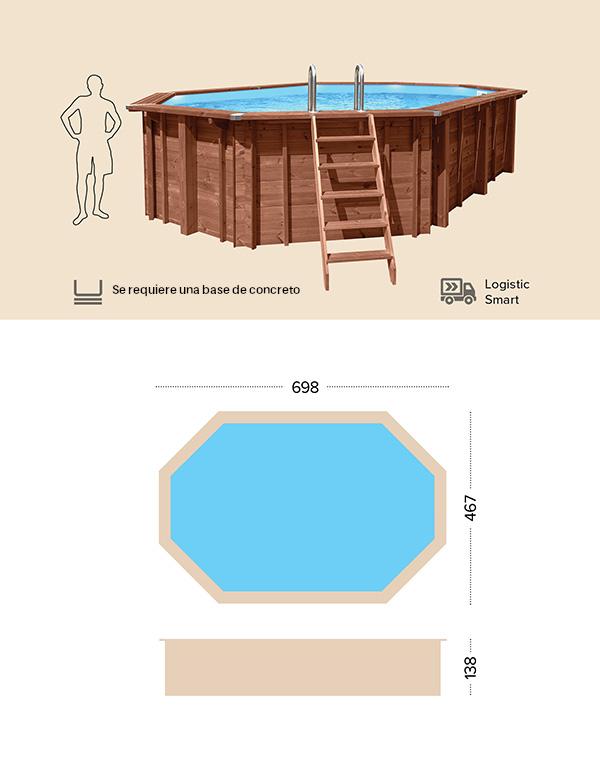 abatec piscinas de madera dibujo tecnico Capri