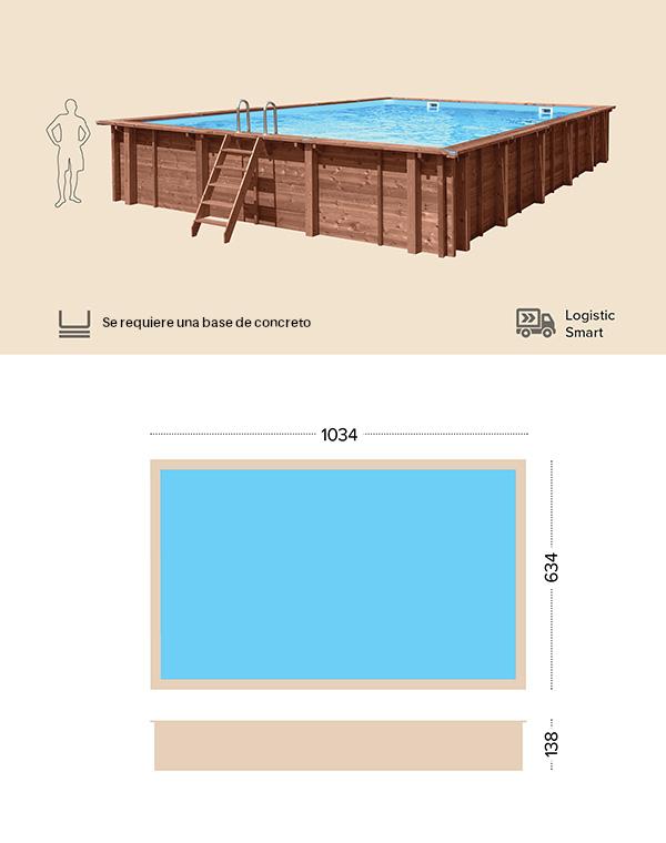 abatec piscinas de madera dibujo tecnico Fiji