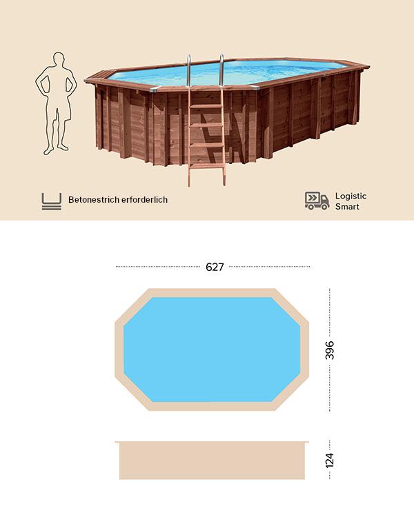 Abatec Holzpool Technische Zeichnung Puerto Rico