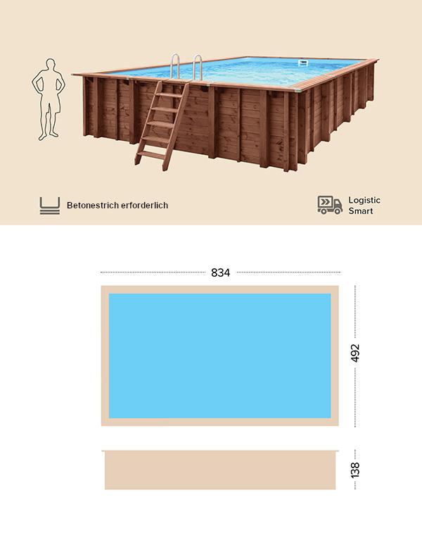 Abatec Holzpool Technischen Zeichnung Samar