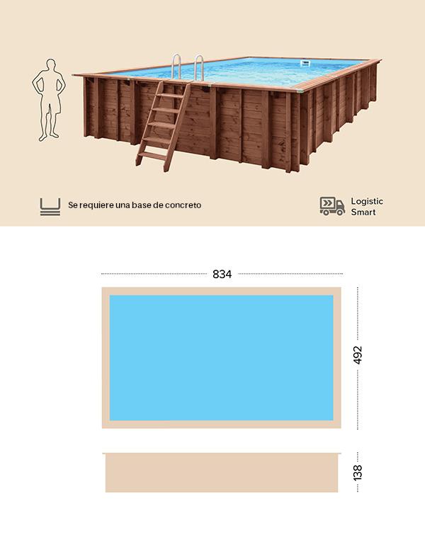 abatec piscinas de madera dibujo tecnico Samar