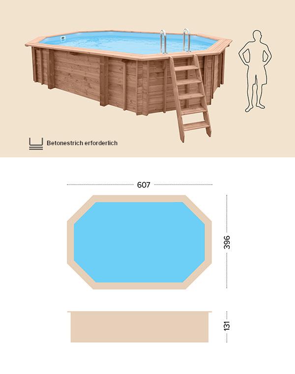 Holzpool technische Zeichnung abatec sea breeze