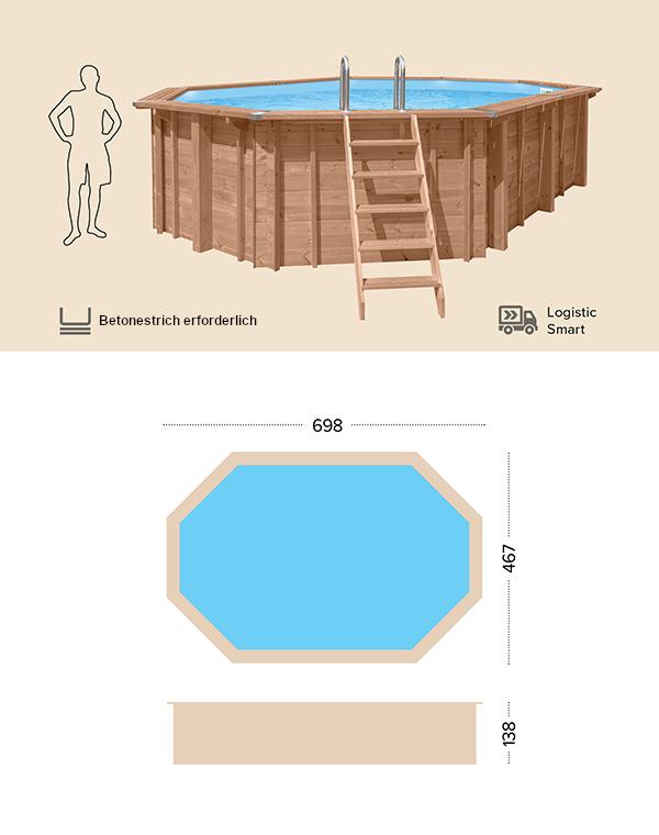 Holzpool technische Zeichnung abatec vacation eden