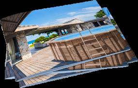Materiały marketingowe z basenami