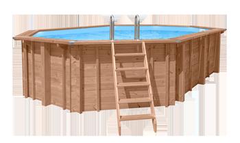 Abatec drewniany basen z drabinką