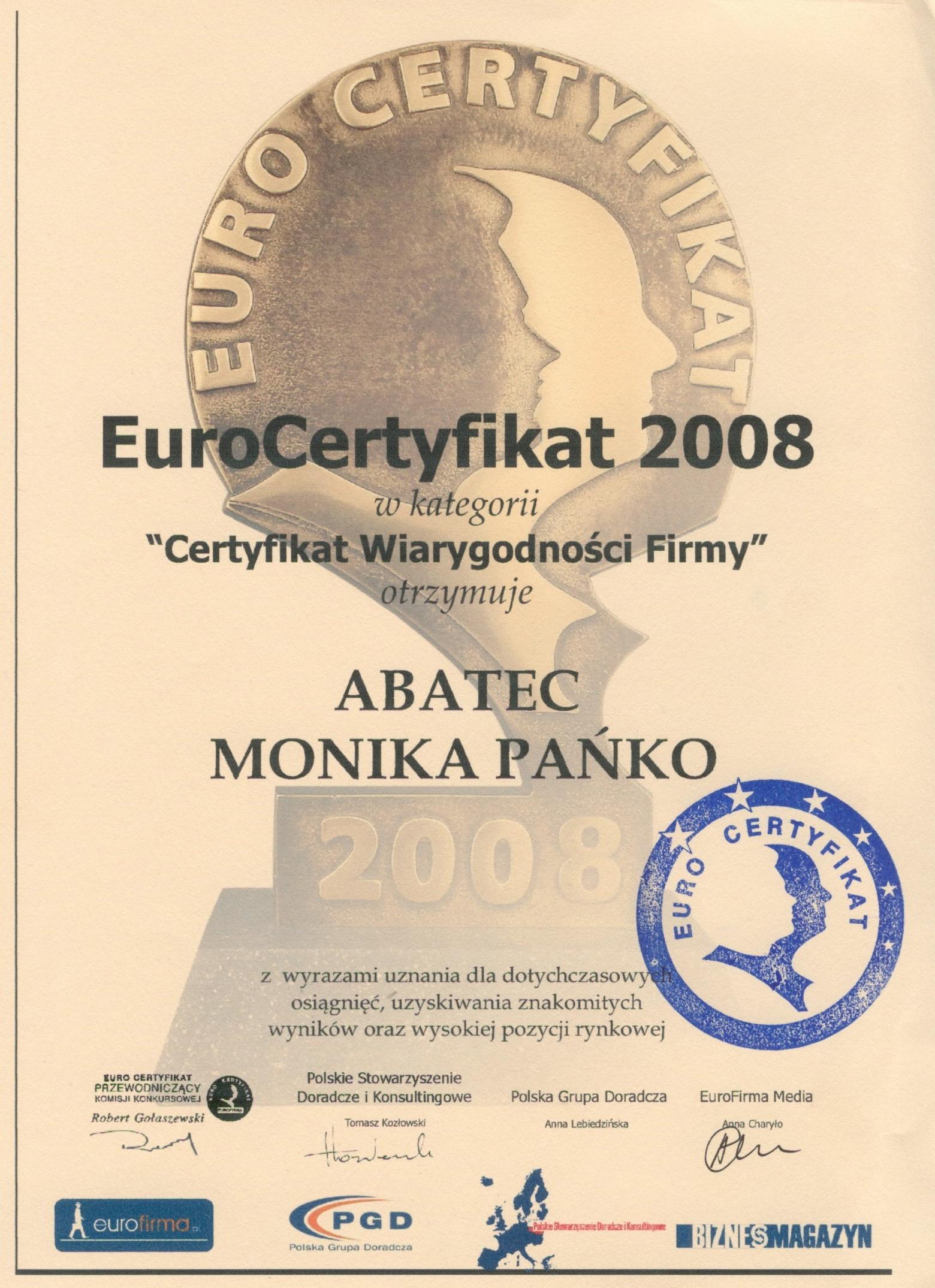 abatec euro certyfikat