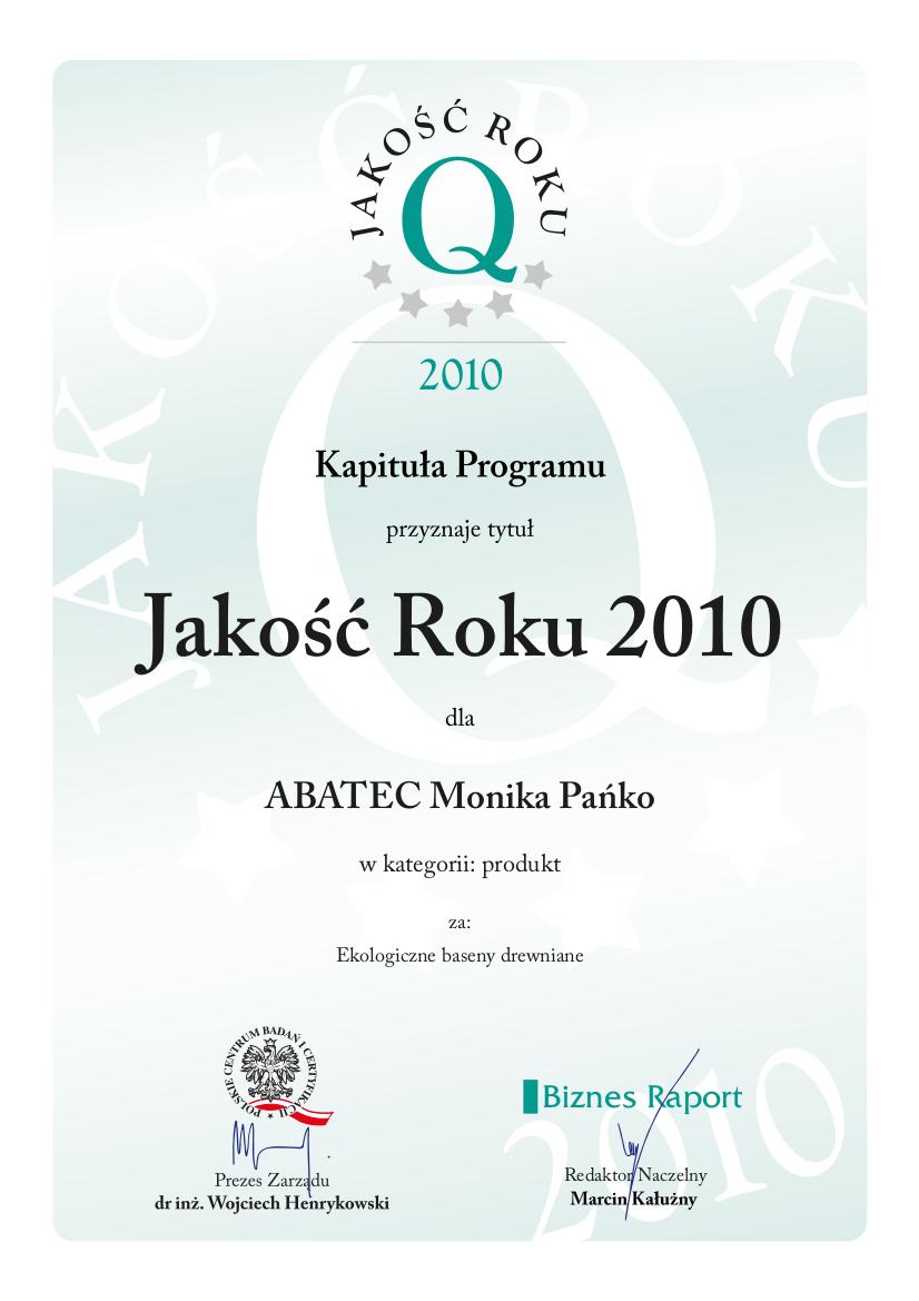 abatec jakość roku 2010