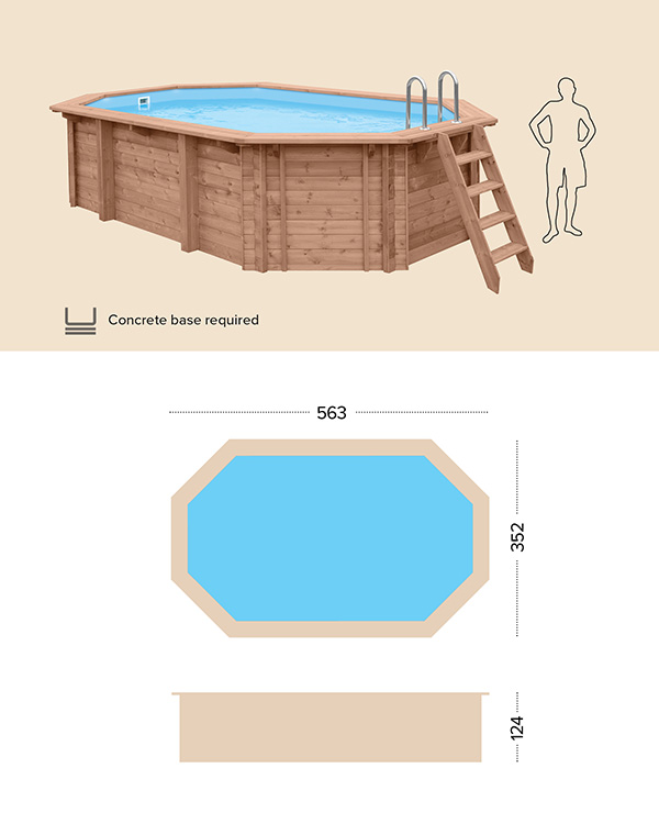abatec above ground wooden pools drawing blue lagoon
