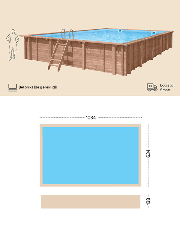 abatec wooden pools Teknik Cizim Wild Shore