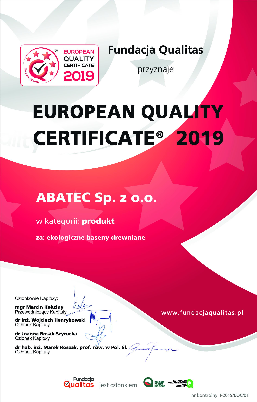 abatec European Quality Certificate